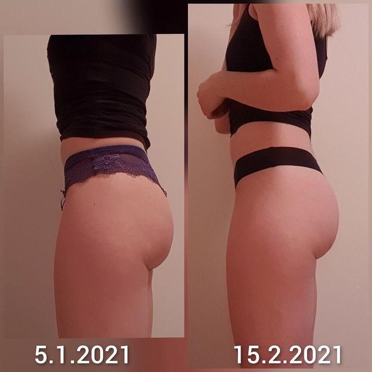 Booty Sole progress, before after, 6 weeks program